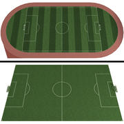 Soccer Field / Football Stadium 3d model