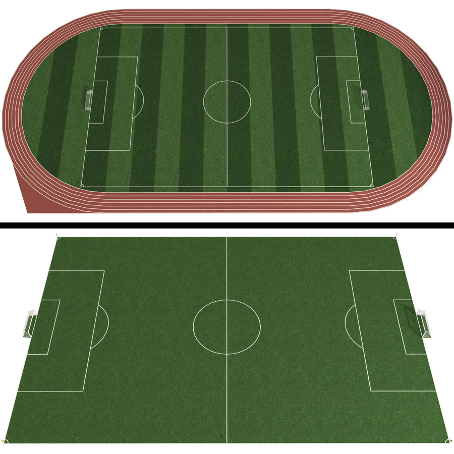 Soccer Field / Football Stadium royalty-free 3d model - Preview no. 1