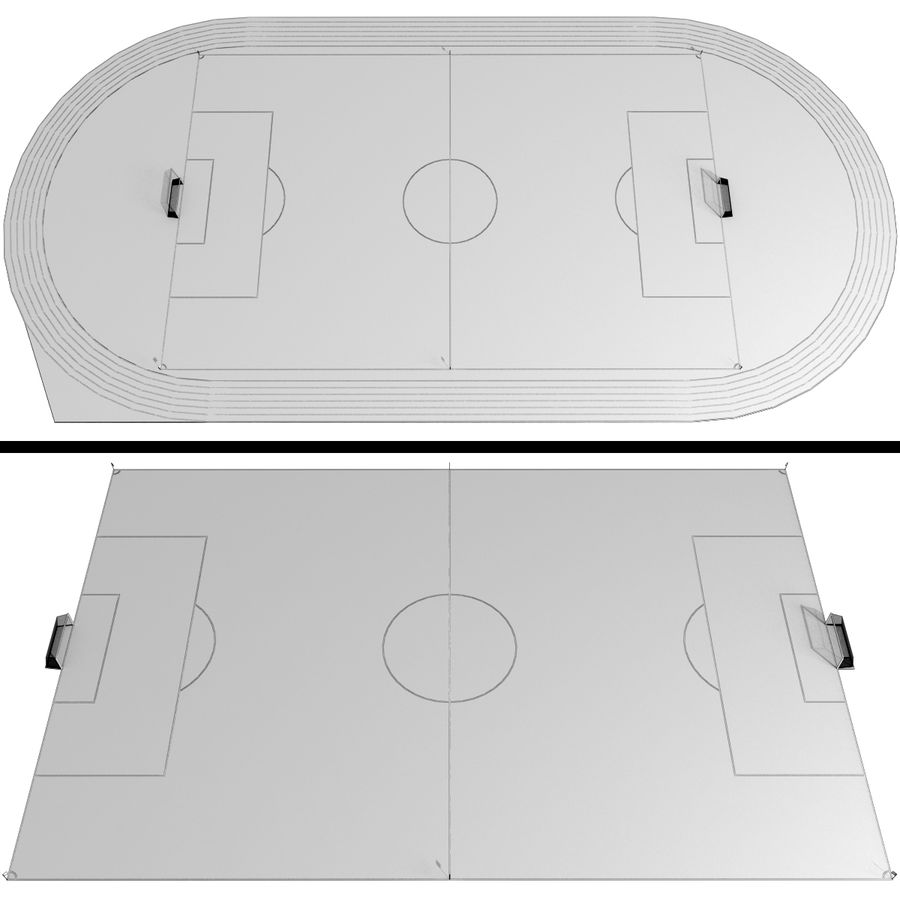 Soccer Field / Football Stadium royalty-free 3d model - Preview no. 2