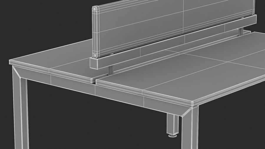 Bureau Herman Miller Sense 1 royalty-free 3d model - Preview no. 18