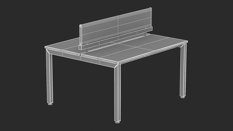 Bureau Herman Miller Sense 1 royalty-free 3d model - Preview no. 13