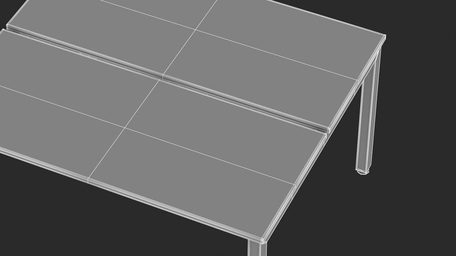 Bureau Herman Miller Sense 2 royalty-free 3d model - Preview no. 20
