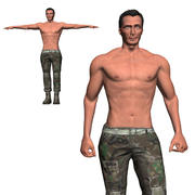 Game Ready Character - Animated Soldier 3d model