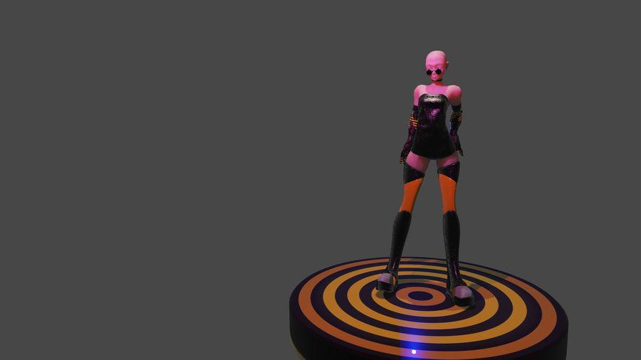 personagem de menina royalty-free 3d model - Preview no. 6