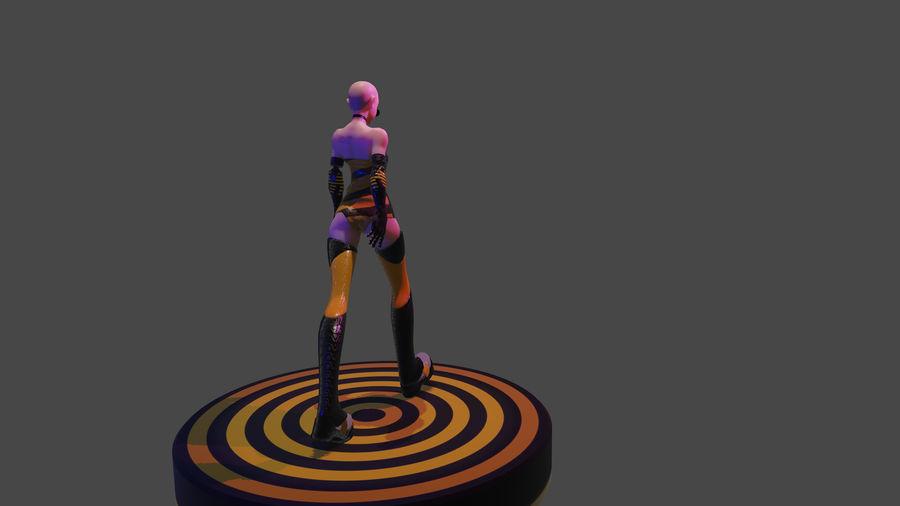 personagem de menina royalty-free 3d model - Preview no. 3