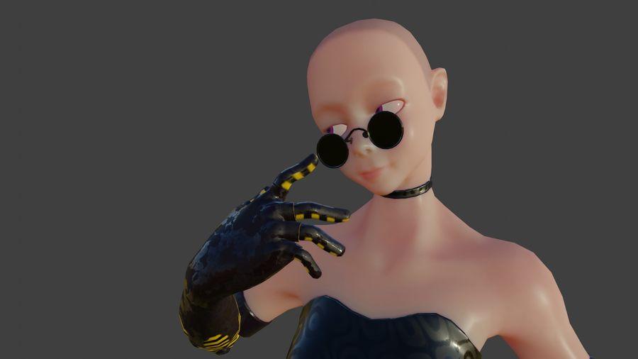 tjej karaktär royalty-free 3d model - Preview no. 9