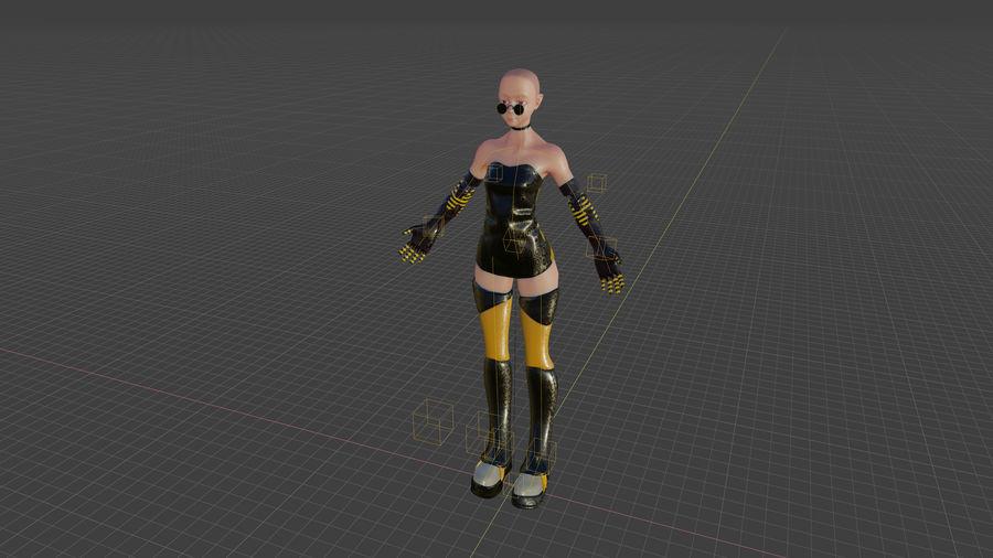 personagem de menina royalty-free 3d model - Preview no. 13