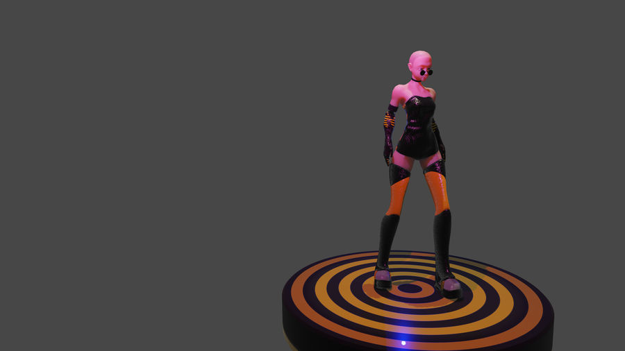 personagem de menina royalty-free 3d model - Preview no. 2