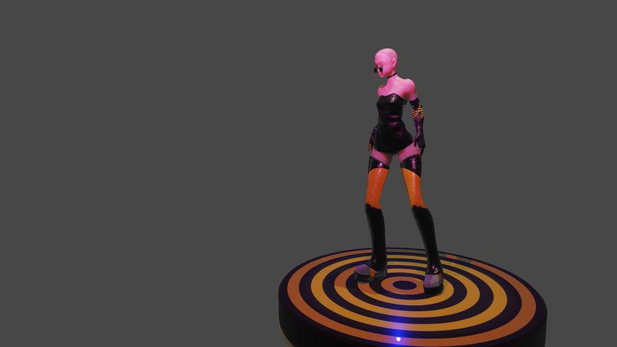 tjej karaktär royalty-free 3d model - Preview no. 5