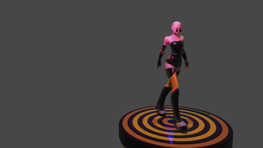 tjej karaktär royalty-free 3d model - Preview no. 4