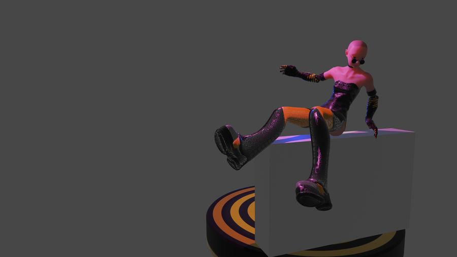 personagem de menina royalty-free 3d model - Preview no. 7