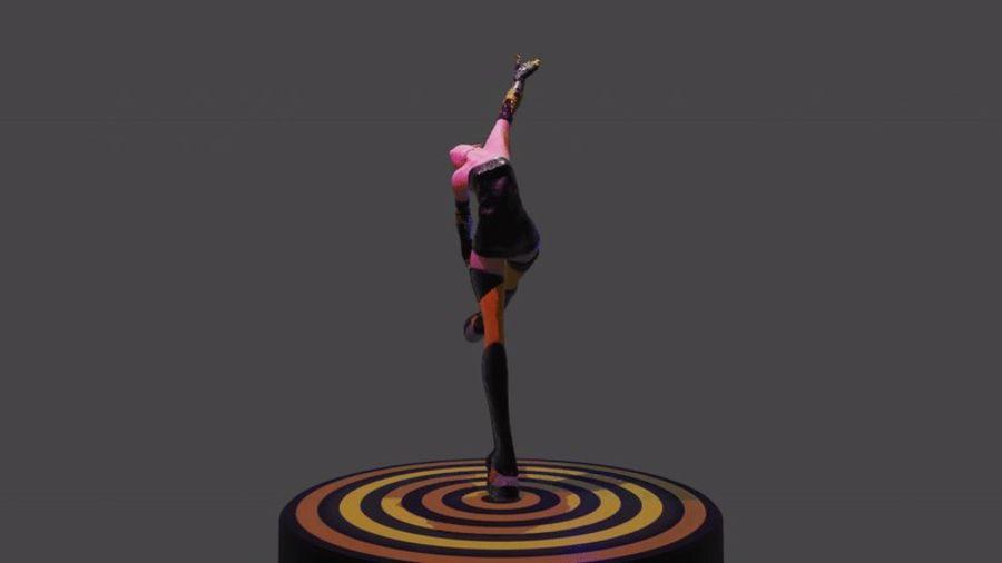 personagem de menina royalty-free 3d model - Preview no. 8