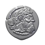 Greek silver drachm of Naxos 3d model