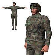 Postać gotowa do gry - animowany żołnierz 3d model