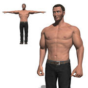 Game ready Character- Animated Man 3d model