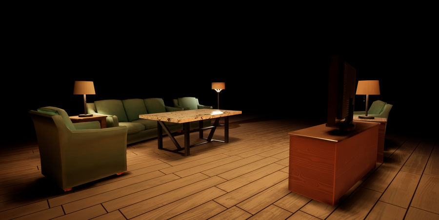 Woonkamer Set royalty-free 3d model - Preview no. 8