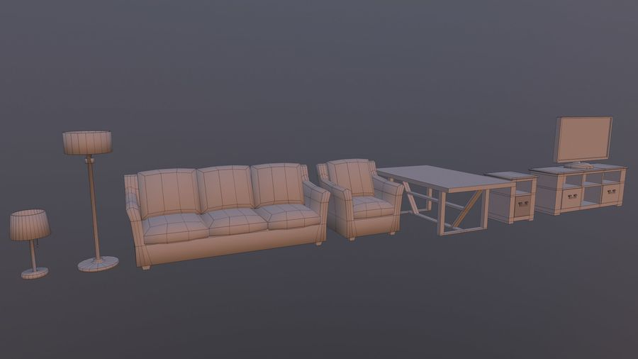 Woonkamer Set royalty-free 3d model - Preview no. 14