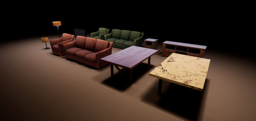 Woonkamer Set royalty-free 3d model - Preview no. 12