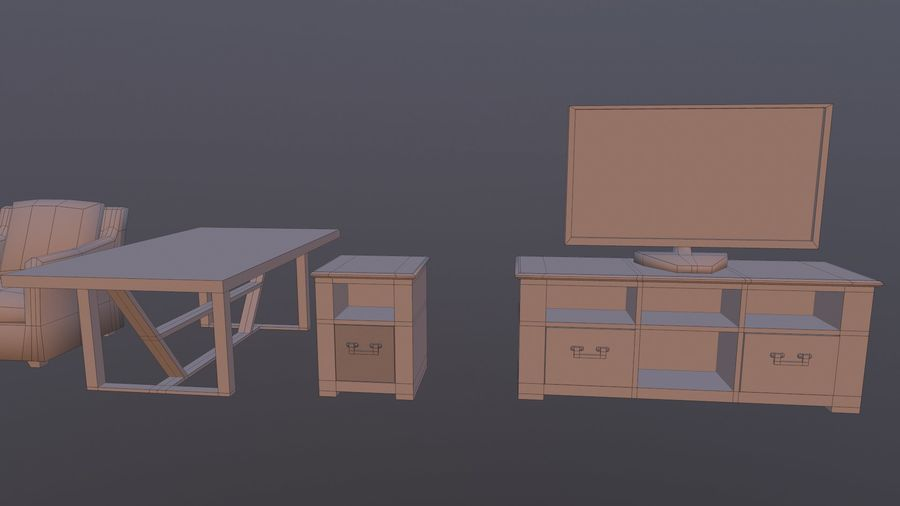 Woonkamer Set royalty-free 3d model - Preview no. 16