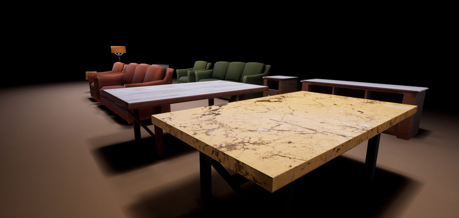 Woonkamer Set royalty-free 3d model - Preview no. 13