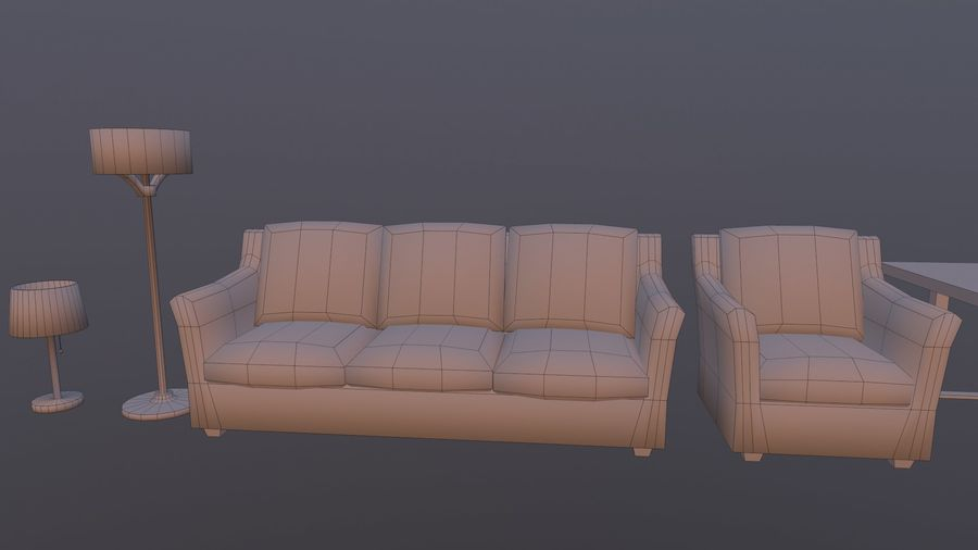 Woonkamer Set royalty-free 3d model - Preview no. 15