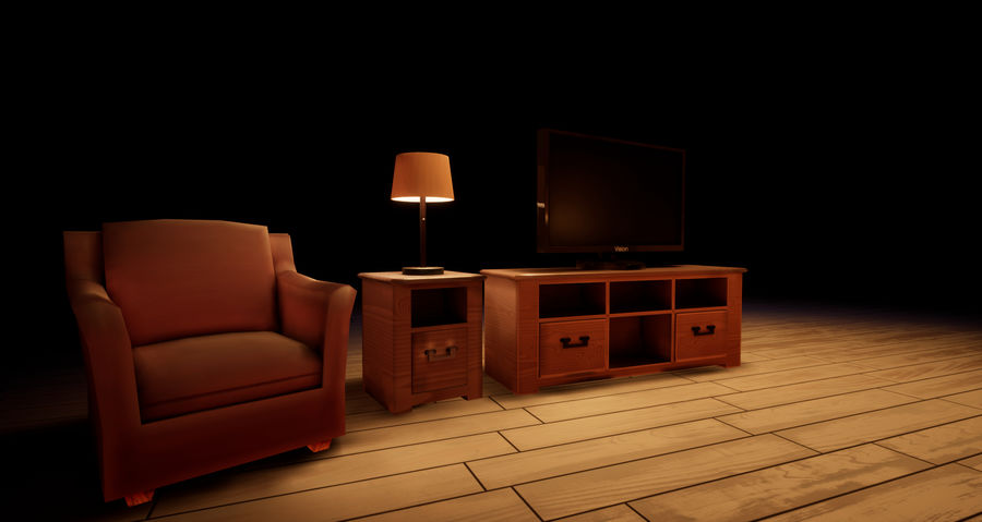 Woonkamer Set royalty-free 3d model - Preview no. 6
