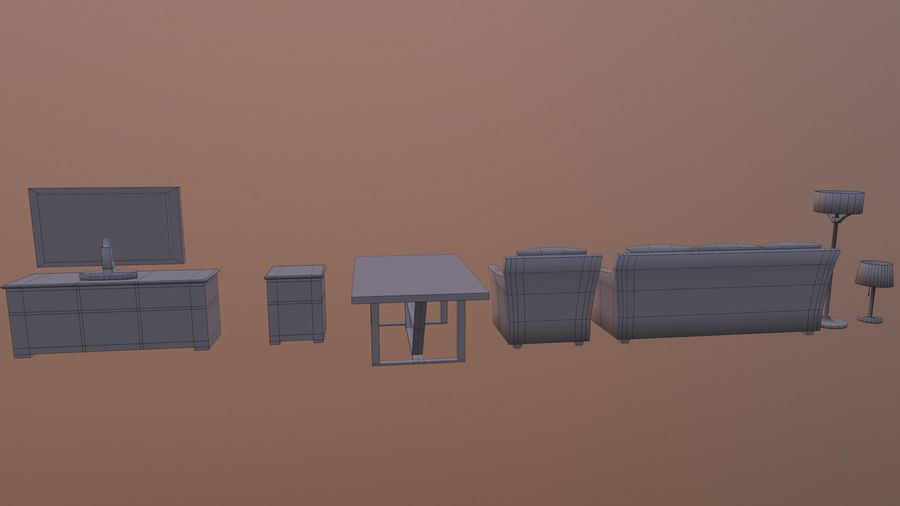 Woonkamer Set royalty-free 3d model - Preview no. 17