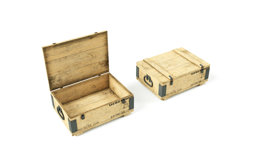 Military Weapon Box royalty-free 3d model - Preview no. 1