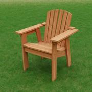 Krzesło okolicznościowe Adirondack 3d model