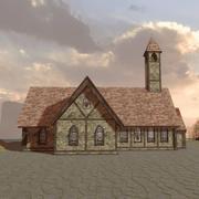 教会中世 3d model