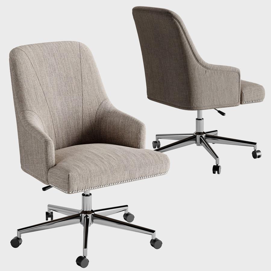 Serta Leighton Home Office Chair Soft Medium Gray 3d Model 13 3ds Free3d