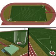 Terrain de sport universel / Stade olympique 3d model