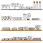 Kitchenware and Tableware 02 3d model