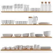 Utensílios de cozinha e utensílios de mesa 02 3d model