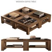 木制咖啡桌 3d model
