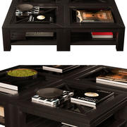 Mesa de centro de madeira - Preto 3d model