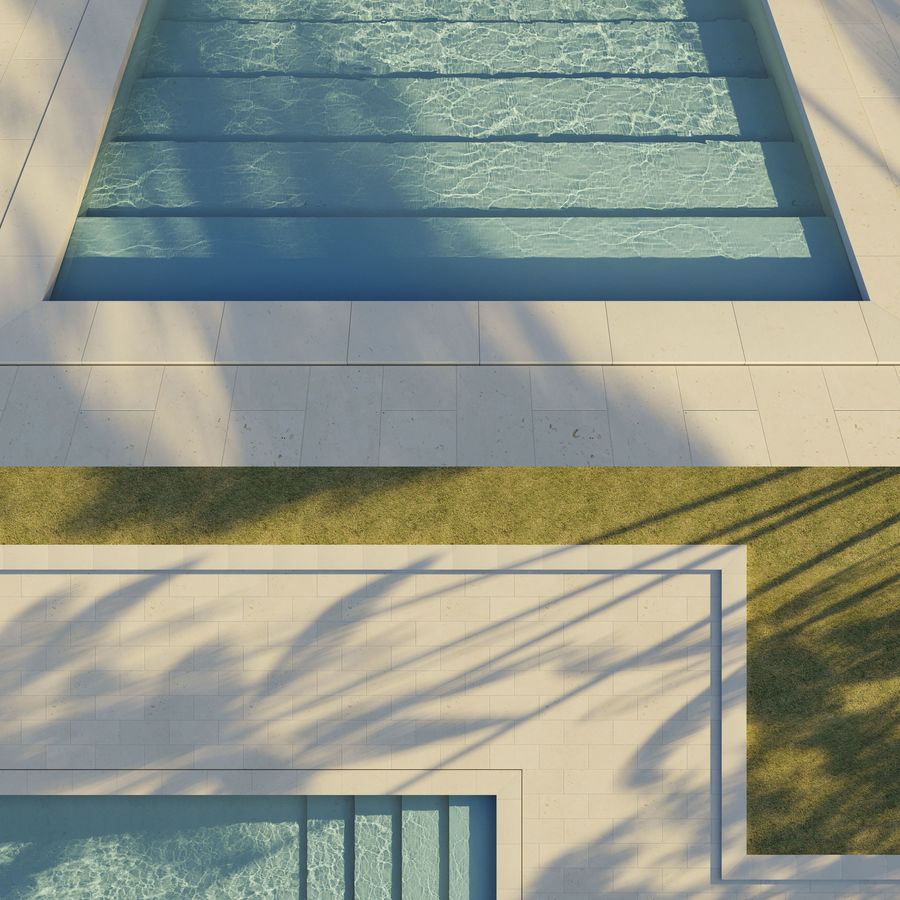 Swimming Pool royalty-free 3d model - Preview no. 3