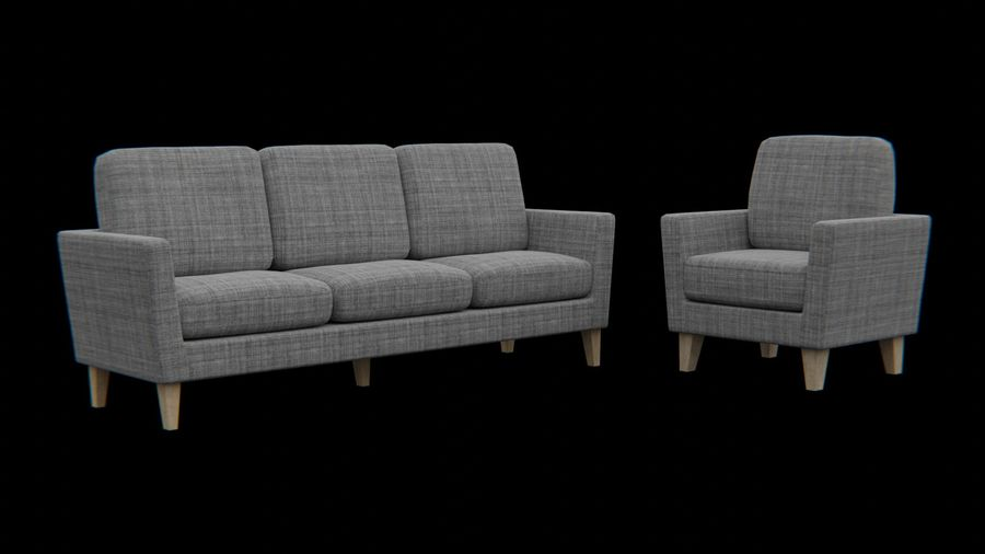 Möbler set-soffa royalty-free 3d model - Preview no. 1