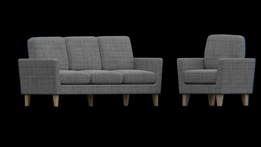 Möbler set-soffa royalty-free 3d model - Preview no. 3