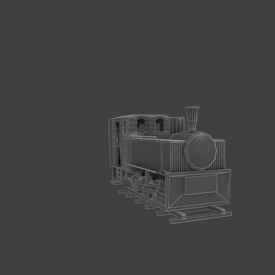 Old train royalty-free 3d model - Preview no. 1