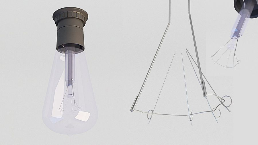 Lamp (111) royalty-free 3d model - Preview no. 7