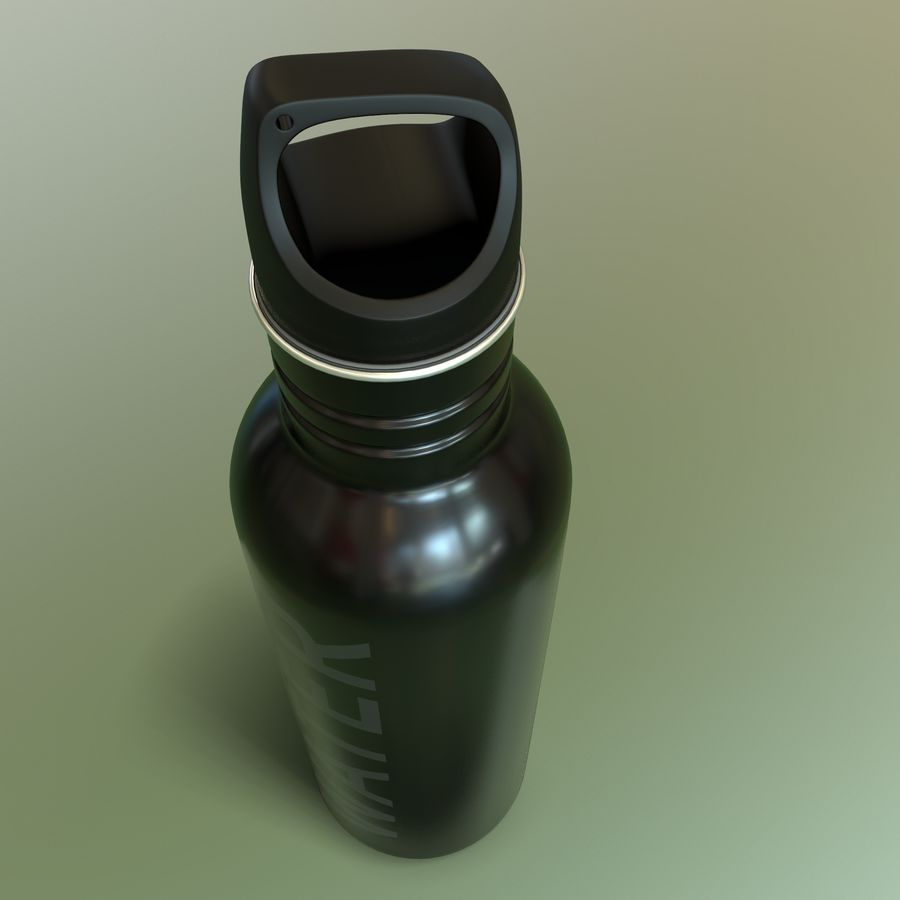 Metal Bottle Water royalty-free 3d model - Preview no. 3