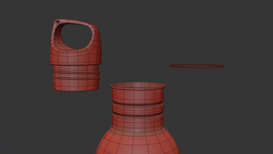 Metal Bottle Water royalty-free 3d model - Preview no. 10