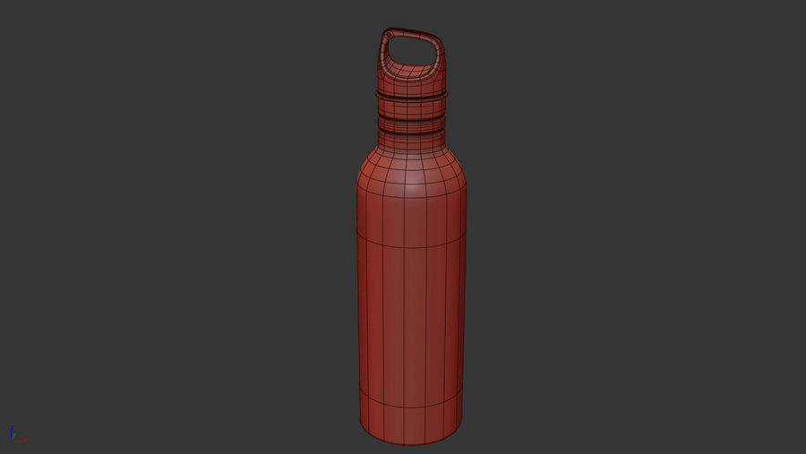 Metal Bottle Water royalty-free 3d model - Preview no. 14