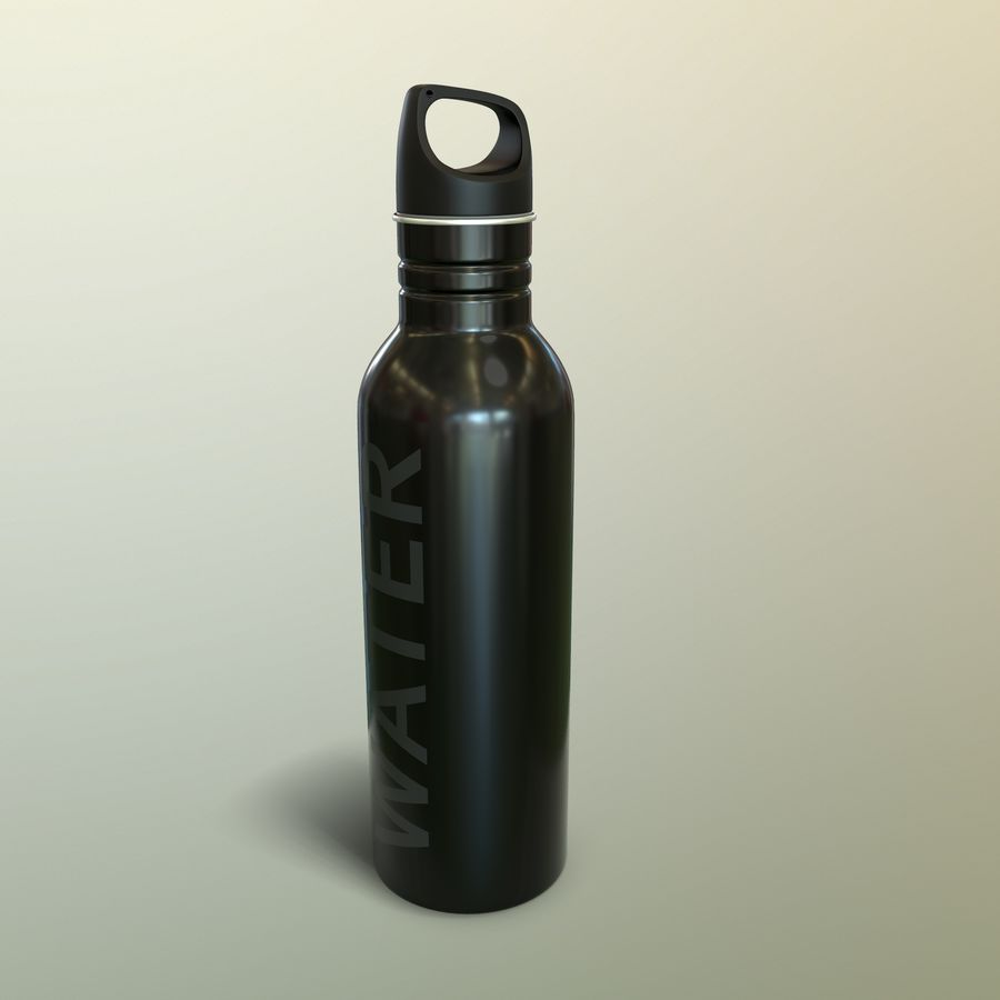 Metal Bottle Water royalty-free 3d model - Preview no. 15