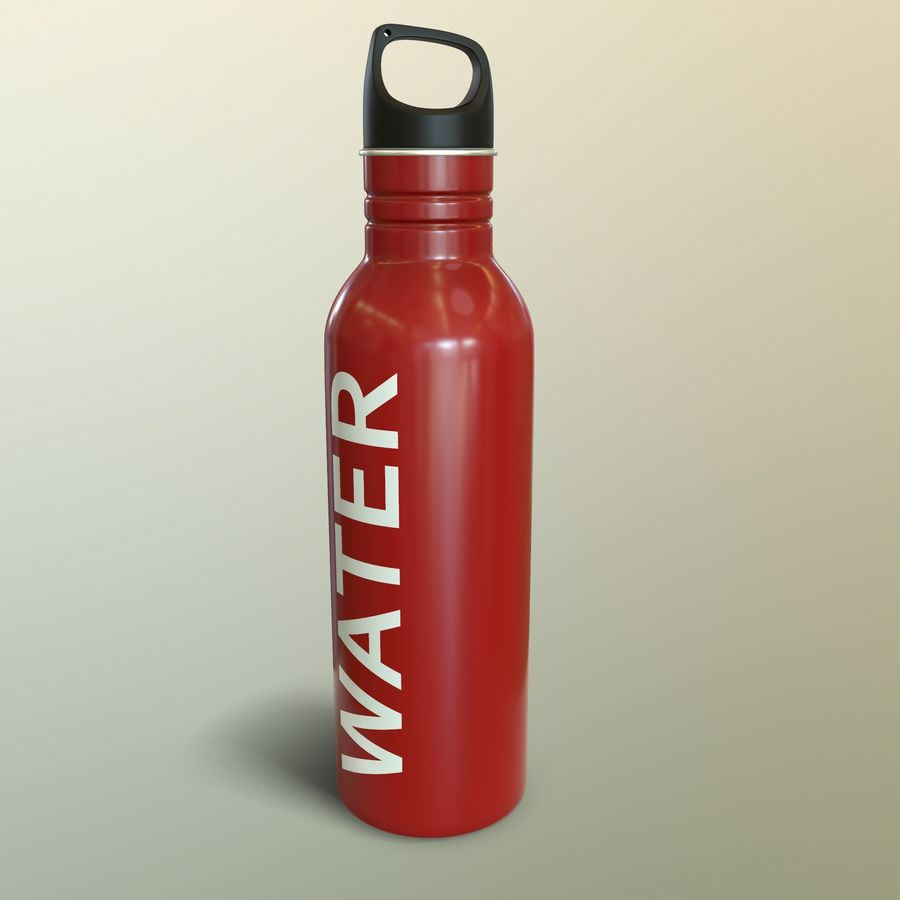 Metal Bottle Water royalty-free 3d model - Preview no. 16