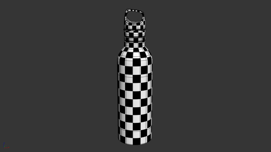Metal Bottle Water royalty-free 3d model - Preview no. 9