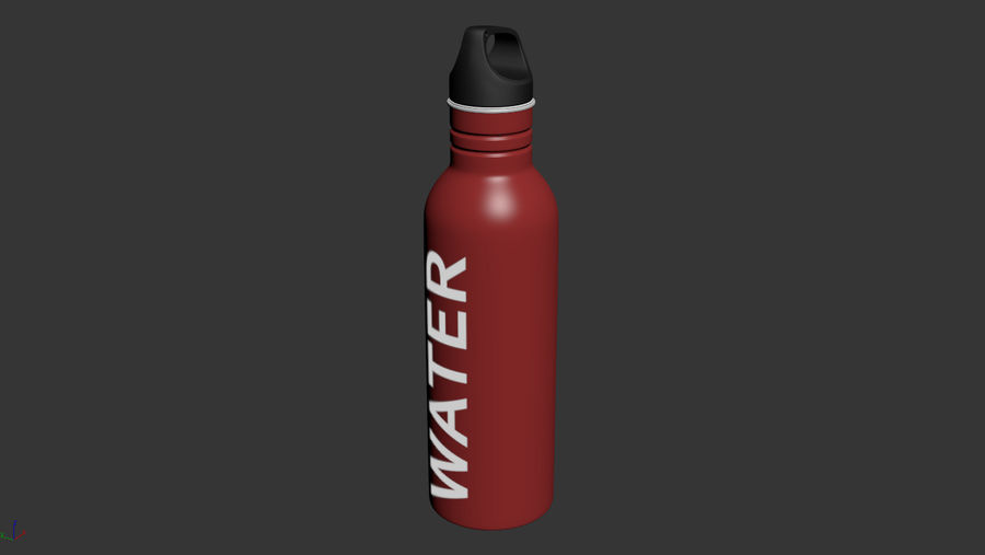 Metal Bottle Water royalty-free 3d model - Preview no. 8