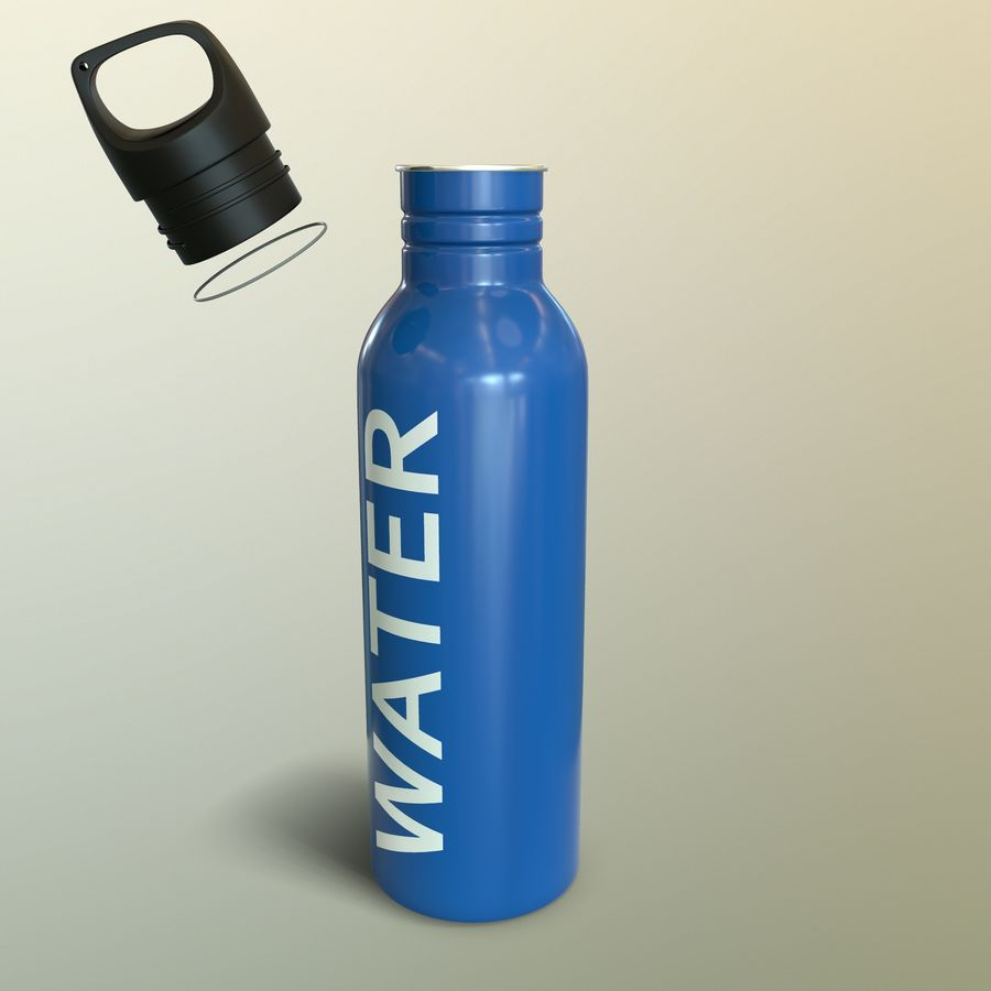 Metal Bottle Water royalty-free 3d model - Preview no. 17