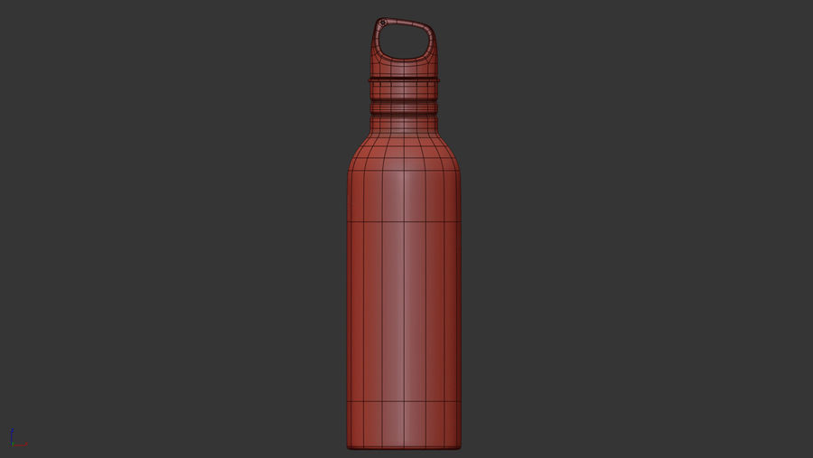 Metal Bottle Water royalty-free 3d model - Preview no. 13